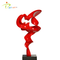 Eye-catching red abstract fiberglass indoor decoration sculpture