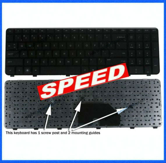 Replacement For Hp Pavilion Dv6-6000 Black Keyboard With Frame 640436-001