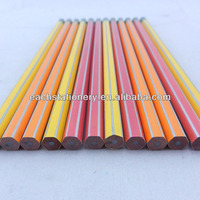 7Inches hexagon Drawing Wooden Stripe HB Pencil tip top