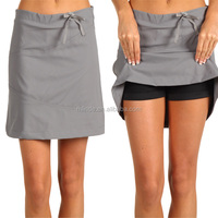 OEM Service Wholesale Outdoor Products Women Sports Gym Active Spandex Skort Loose Fit Plain Skirt Manufacture In China