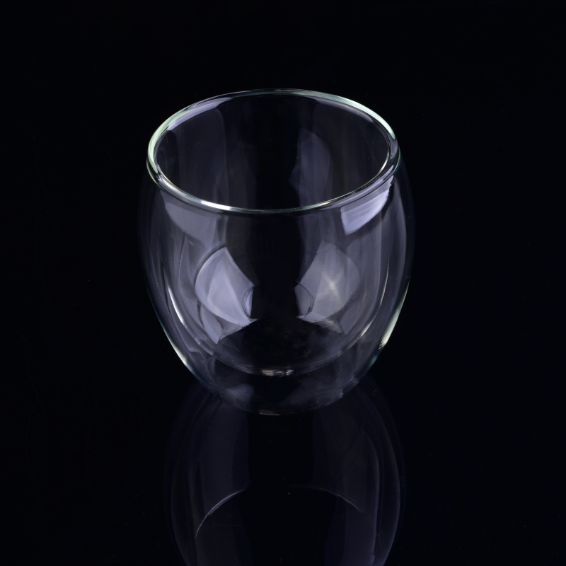 Borosilicate Glass Cup Double Wall Drinking Glass Cup