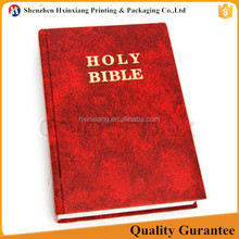 Professional offset printing recycled paper book printing holy bible