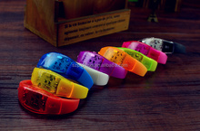 led sound actived bracelet ,wristband sound sensor