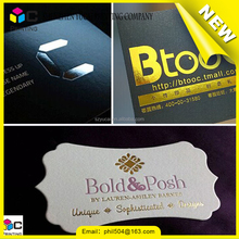 Hot stamping foil business card, die cut thick business card, Gold foil business card