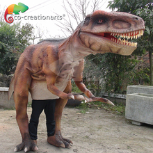 Walking and dance adult raptor dinosaur costume