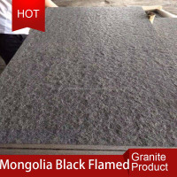 China cheap absolute black granite Mongolia Black curb stone