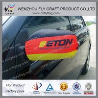polyester customized side mirror cover with national flag
