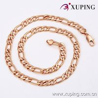 New Design Rose Gold Plated Fashion Russian Jewelry Men Necklace