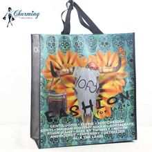 Top selling unique design promotion sheep head woven shopping bag