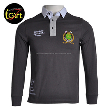 OEM Student School uniform Long Sleeve Polo Shirt For Autumn Wearing