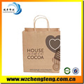 wholesale printed paper kraft bag for shopping handmade paper bag
