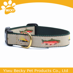 New And Hot Sale Nylon Personalized Pet Product Customized Dog Collar