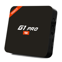 Promotional g1 Pro tv box amlogic s905 4k 64 bits quad core android tv box with sim card