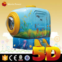 amusement park games factory 5d cinema mobile cabin with coin operated