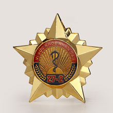 New product soft enamel star shaped medal, gold star pin badgestar, custom metal lapel pin