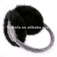 2012 best selling fashion winter warm pretty grey knitted plush ear muffs