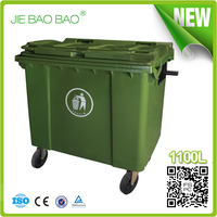 large size waste box 1100 ltr environment friendly square trash can plastic garbage bin hdpe pp containers