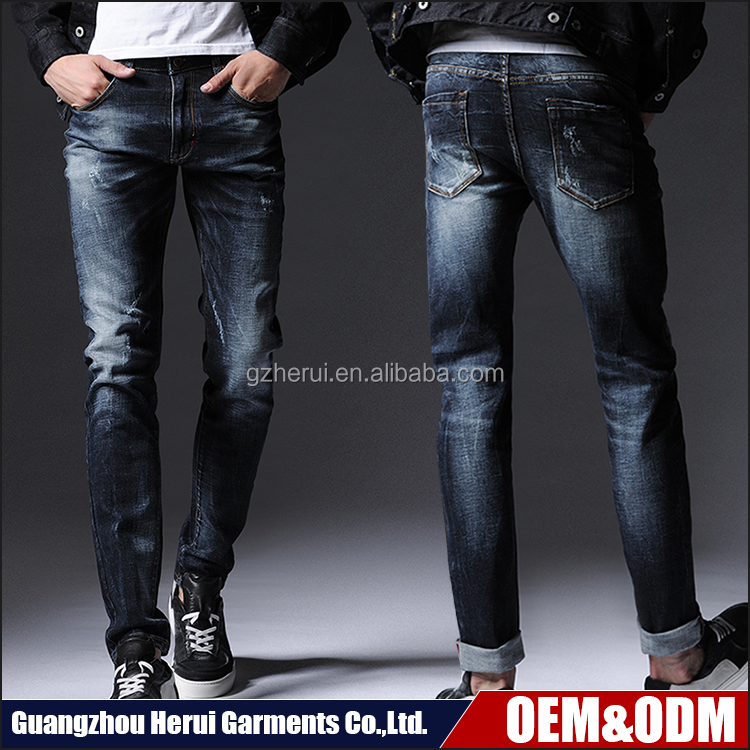 Hot Sale Fashion Men Stretch Fit Biker Jeans Trousers New Style Skinny Denim Jeans Pants Pent