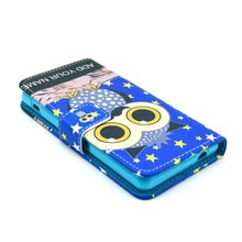 Wholesale Printed PU leather case for Sony Xperia Z1 mini