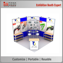 Graphic changeable exhibition booth for Expo