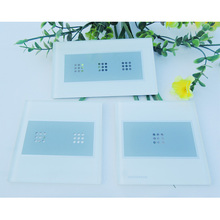 Factory custom tempered glass, fashion intelligent touch wall switch glass panel