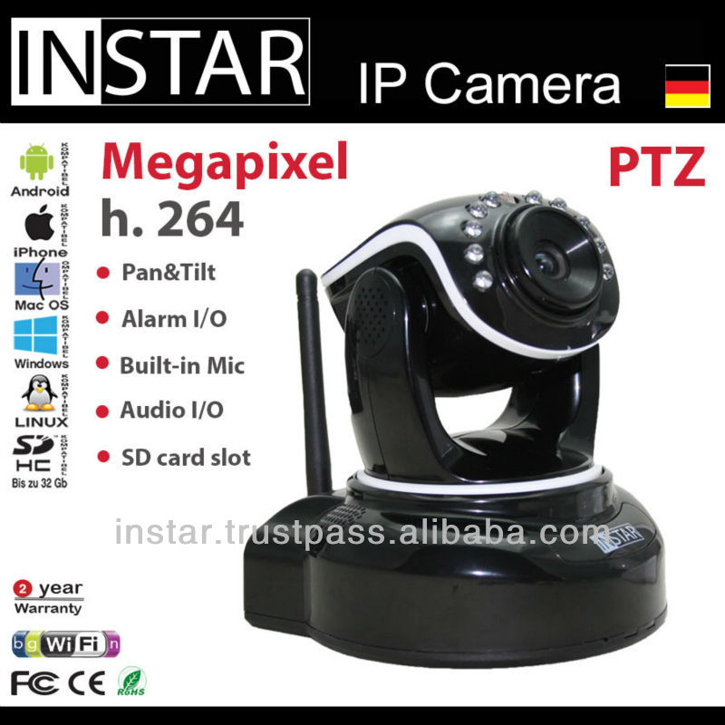 INSTAR IN-6012HD ONVIF, free DDNS, UPnP, SD Card, 720p