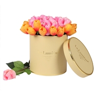 Custom Round Cardboard Luxury Flower Hat