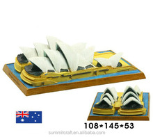 The Sydney Opera House of Australia resin 3d building model Australia souvenirs