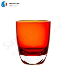 Alibaba Supplier 20ml shot glass cup square shot glass hand blown Shot Glass