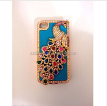 PEACOCK CRYSTAL DIAMOND CASE BLING DIAMANTE HARD COVER For iPhone 5 4S 4
