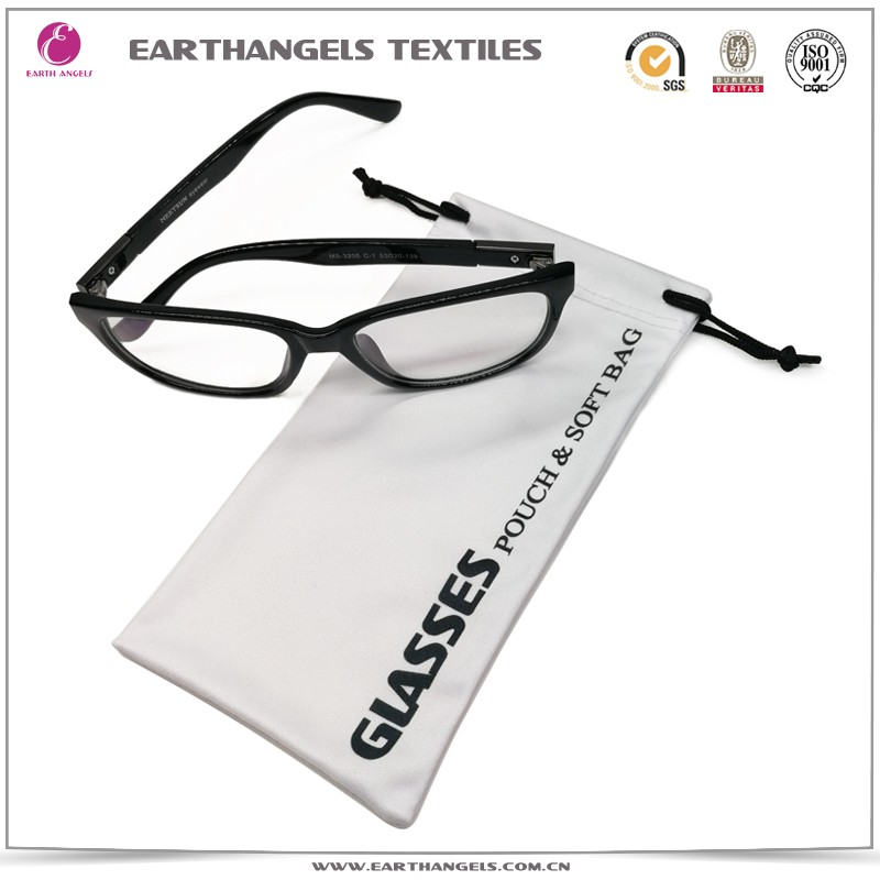 Custom microfiber sunglasses pouch with logo