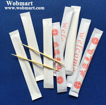 2.0mm Bamboo Toothpick Individual Paper Wrapped