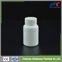 Factory china 100ml HDPE Plastic pharmaceutical jar , white plastic pharmaceutical jar