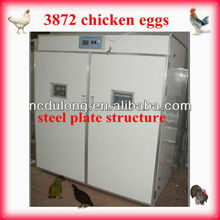2012 CE Approved 3872 chicken eggs full automatic incubators for hatching eggs energy-saving