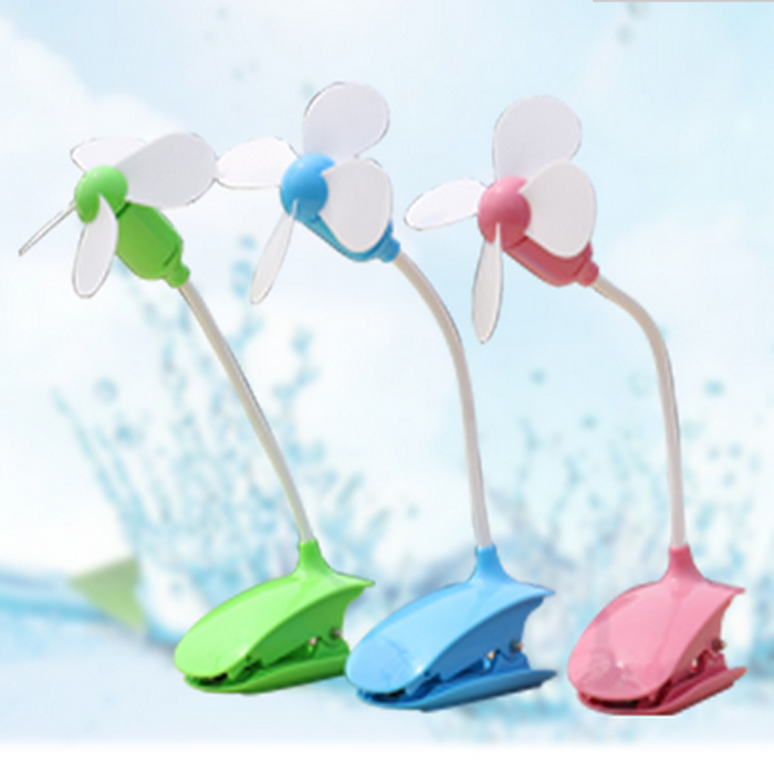 UCHOME New design Creative USB Charging Clip Fan for Office Desk Portable Baby Stroller Safety Mini Clip Fan
