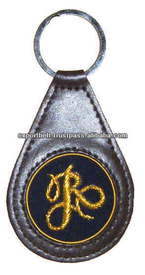 Embroidered Key Fobs | Gold Embroidery Club Key Chain | Premium Gifts from Pakistan