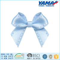 Various patterns and printed bright blue ribbon bow wholesale hair accessories