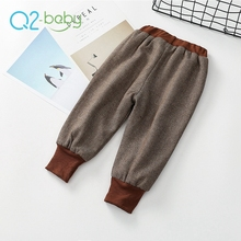 Q2-baby Wholesale China Factory Fashion Winter Thicken Keep Warm Outdoor Baby Pants