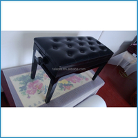 White / Black Luxury Double Adjustable Piano Keyboard Bench Stool PU Leather Seat bookcase chair