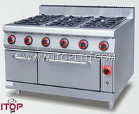 Gas range with 6-burner & oven for sale