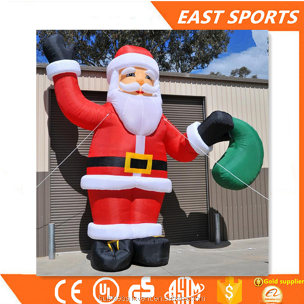 2017 Christmas cheap giant inflatable moving santa claus with high quality for sale