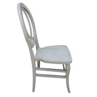 Top Quality modern dining leather chair rococo white wedding Chair