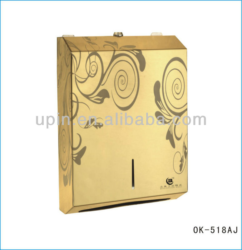 304 Stainless steel paper towel dispensers Golden color