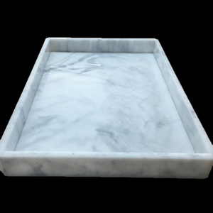 Minibar Tray, Fashion Design Wholesale Customize Circle Square Acrylic Marble Hotel Bathroom Amenities Tray