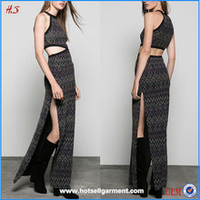 Hot Girl Sexy Picture Names of Ladies Dresses Long Maxi Print Coloured 'zigzag' Dress