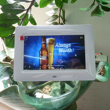 Hot Small Size Battery Operated Digital Photo Frame 7 Inch With Video Loop