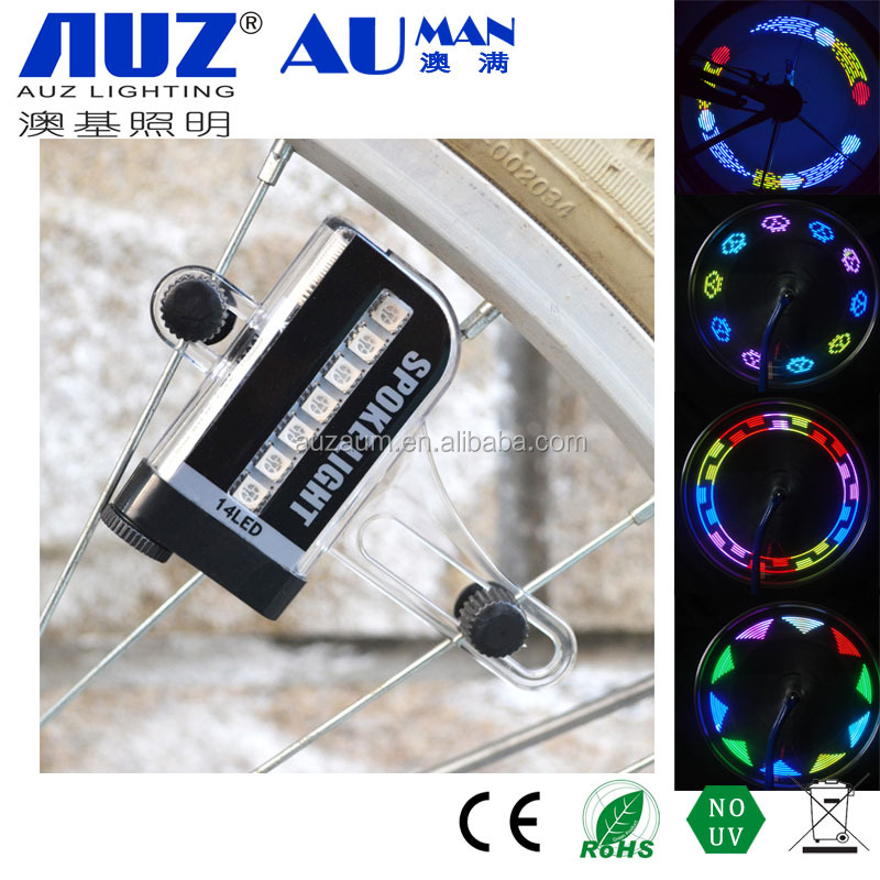 Newly Sport bike parts Bike Bicycle Cycling Wheel Light with 2 LED