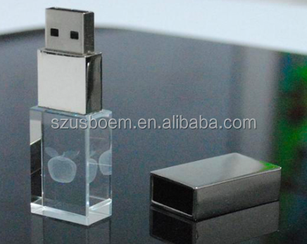 Stick Style and USB 3.0 Interface Type transparent crystal usb