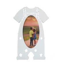 Matte white finish lovely Wood Clothes Style Baby Photo Frame