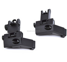 Hunterking AR15 AR 15 1 Pair Tactical BUIS Front and Rear Iron Sight Flip Up 45 Degree Offset For Rifle Gun Accessories
